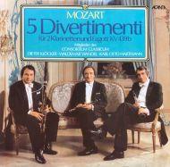 Wolfgang Amadeus Mozart - 5 Divertimenti Für 2 Klarinetten Und Fagott KV 439b (2xLP)