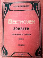 Beethoven - Sonaten für Klavier zu 2 Händen Band I (MUSICAL SCORE BOOK)