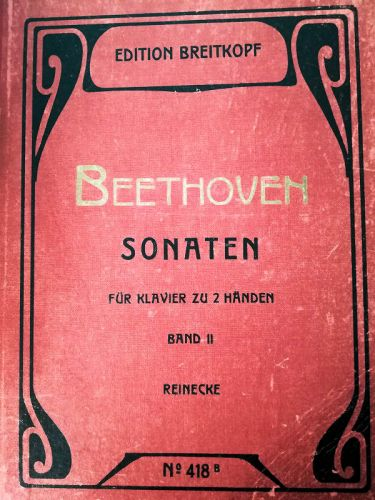 Beethoven - Sonaten für Klavier zu 2 Händen Band II (MUSICAL SCORE BOOK)