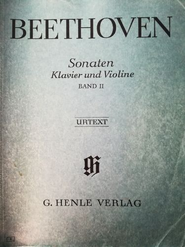 Beethoven - Sonaten Klavier und Violine Band II (MUSICAL SCORE BOOK)