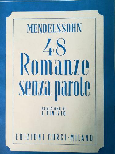 Mendelssohn - 48 Romanze senza parole (MUSICAL SCORE BOOK)