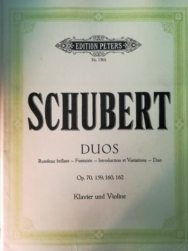 Schubert - Duos (MUSICAL SCORE BOOK)